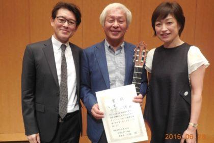 共通の師である堀井義則先生(左)と。