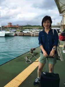 石垣島からフェリーで、小浜島に上陸
